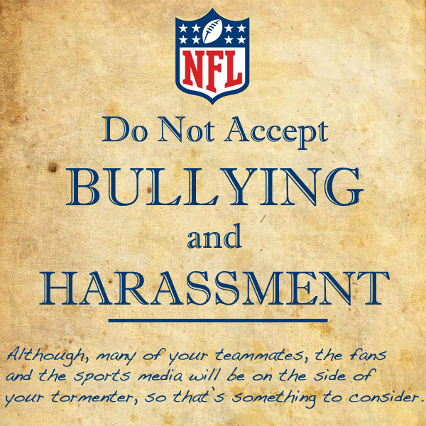 For more clever NFL Bullying Prevention signs visit SportsPickle.com