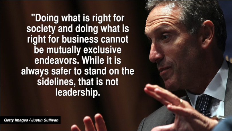 Howard Shultz, The CEO of Starbucks